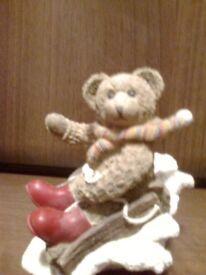 Christmas Bear on Sleigh