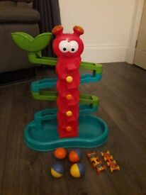 Crazy catapillar ball drop baby toy