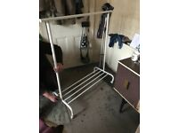 Clothes rail plus shoes