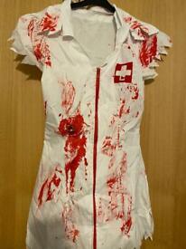 Nurses Halloween Dress (Small, Size 8)
