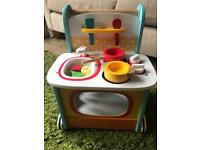 Wooden baby walker kitchen