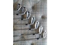 For sale used 714 forged Titleist AP2 golf irons 4 - PW stiff shaft in excellent condition