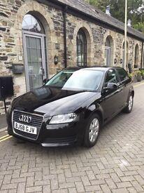 Audi A3 1.6l petrol 2009 Black with FSH