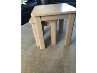 Table nest ,solid light oak wood ,excellent condition ,pick up only £50