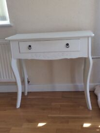 Dressing table / side table white shabby chic