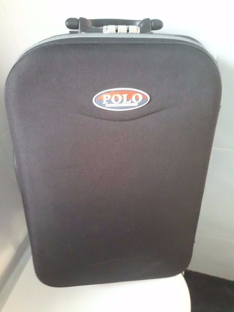 POLO Travel Bagin Leigh, ManchesterGumtree - POLO travel bag on wheels with pullout handle Zipped front pockets for documents or other also fitted with carry straps In good condition Mobile 07720606506