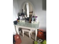 White ikea dressing table WITH STOOL
