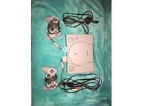 Play Station 1 (PS1) Console with 2 Controllers, Cables and Memory Card - All Tested and Working