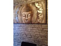 Buddha canvas about 3ft wide lovely