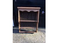A natural Pine Plate Rack