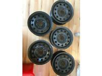 "Ford 13"" steel wheels x5"