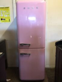 Smeg fridge freezer pink 3 months warranty free local delivery!!!!!!!!!!!!
