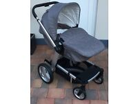 Travel System – Mothercare Genie Pushchair with Cybex Aton mars red infant car seat - Jordanstown