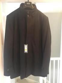 M&S men's black coat