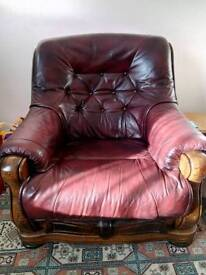 Leather Lounge Suite 2 Seater and chair