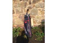 Sandra Palmer golf clubs and bag