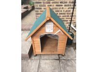 Large dog kennel as new
