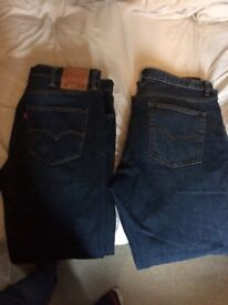 2 pairs of men's jeans Levi 501 and Next