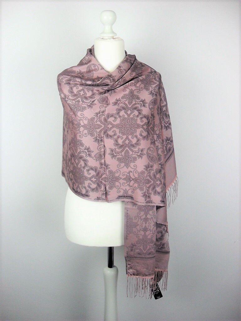 Pashmina Schal Tuch Stola Hijab 55% Viskose & 45% Polyacryl Altrosa 183x70cm