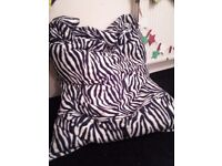 Large Zebra Bean Bag/Pet Bed