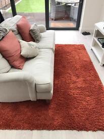 Luxurious cosy rug - rust