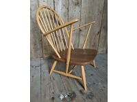 Scarce 1960s Ercol tub chair 305 in top original condition natural finish elm beech vintage gplanera