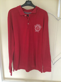 Men's Easy red long sleeve polo top