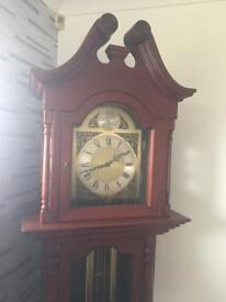 Rosewood Grandfather clock with German Timepice