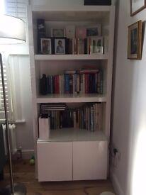 Modern white shelving and storage unit