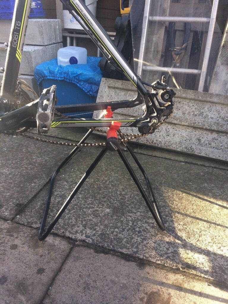 Mountain Bike Standin St Georges, ShropshireGumtree - Mountain Bike Stand Universal so it should fit any bike. It will only hold the back of the bike up, not the front. A bike will sit on the stand with a rear tyre on. Any Questions Please Do Not Hesitate To Contact Me