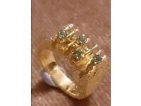 9 carat gold dress ring