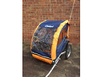 Cleveland Avenir twin kids bicycle trailer. Priced to clear. £150 ono
