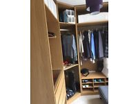 IKEA Pax wardrobe system under 2 yrs old, as new, £350