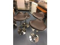 4 x Adjustable Bar Stools