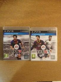 FIFA 13 and 14 PS3