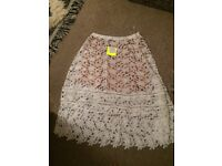 New - Misguided beautiful layered skirt - size 14