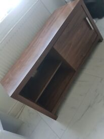 NEXT Home living room furniture, tv unit with 2 drawers, small coffee tabke and 2 side lamp tables.