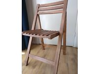 Pair of Folding Acacia Wooden Garden Chairs - Royalcraft