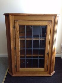 Wooden corner wall cabinet