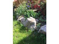 Garden rockery stones for free