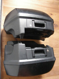 BMW K1200 Panniers with new mounting kit