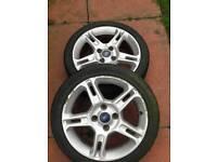 """16"""" zetec alloys with tyres x2"""