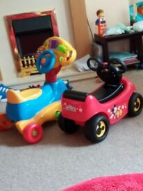 Mickey Mouse and vtech ride along cars