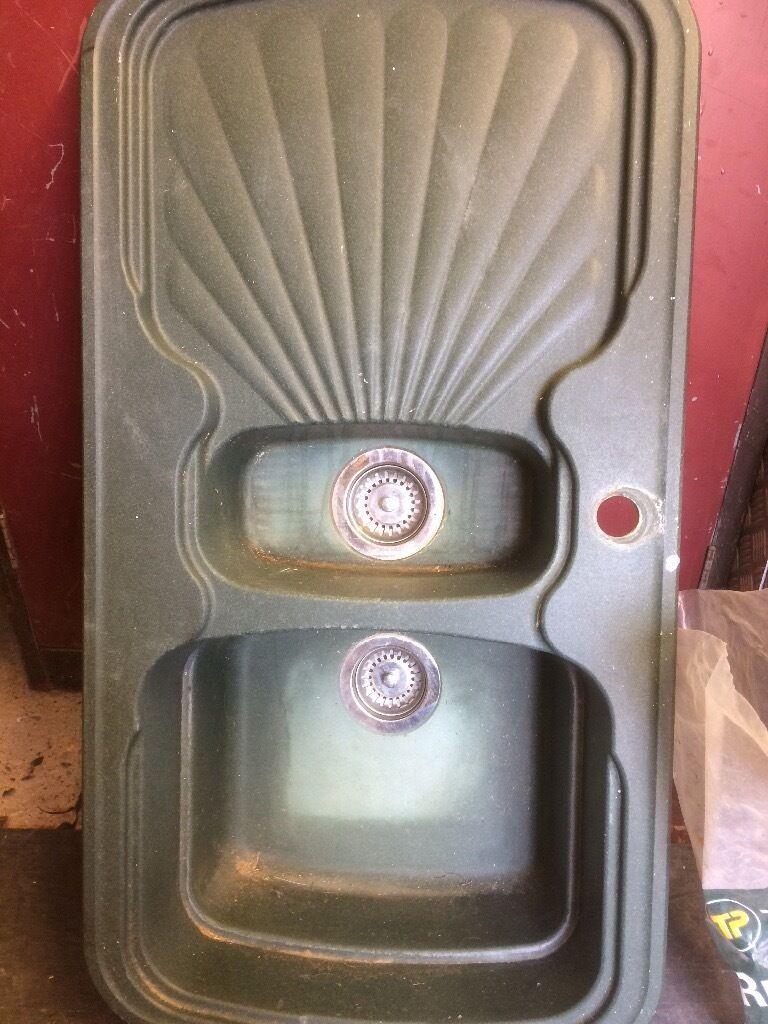 green double kitchen sink | in dereham, norfolk | gumtree