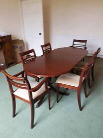 Large Extendable Dining Table & Chairs