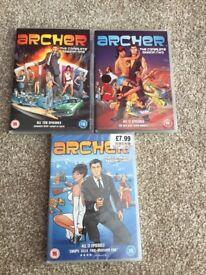 Archer seasons 1-3 dvd