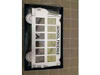 2 Silver School bus photo frames