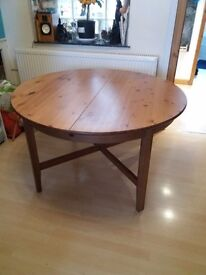 Extendable wooden dining table originally from ikea