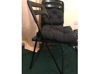 2x IKEA NISSE folding chair in black