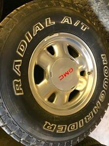 lt265/75/16 Roughrider Radial A/T tires+rims 75%